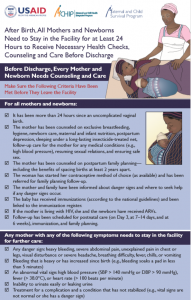 PNC Bedside Pre-Discharge Poster, Africa – Healthy Newborn