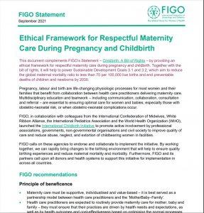 First page of FIGO ethical framework document