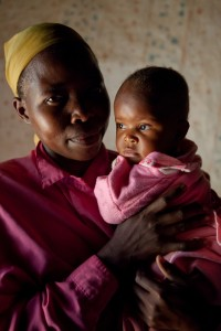 Hadija Akongo holds her 6-month-old daughter Ruth.