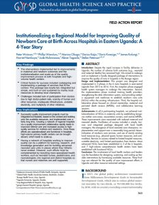 First page of article, including abstract, key findings, key implications, authors, and journal information