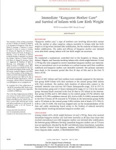 First page of article on KMC include authors, title, and abstract.