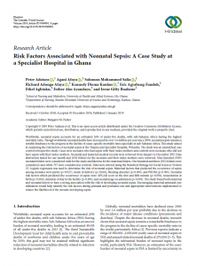 Risk Factors Associated with Neonatal Sepsis: A Case Study at a