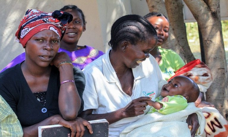 Members of a mother-to-mother support group in Kenya. (Courtesy of George Ndagu)