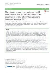 mapping-of-research-on-maternal-health-interventions-screenshot